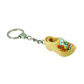 Key ring wood color 1 clog 1,5 inch.