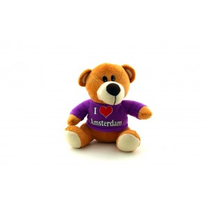 Teddy bear i love Amsterdam purple shirt