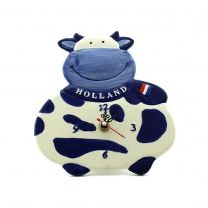 Delft blue cow clock 8 inch high.