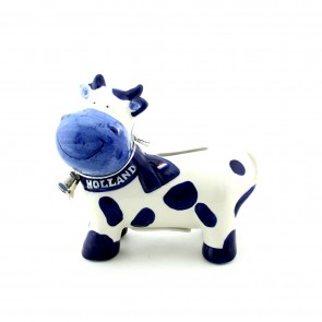 Delfts blue cow money-box.