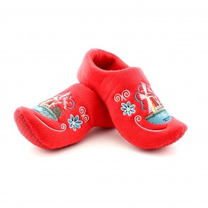 Wooden shoe slippers red windmill.