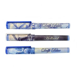 Set of three Delft blue pens