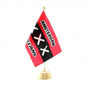 Flag of Amsterdam 13 inch high.